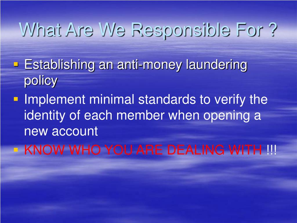 What Are We Responsible For ?