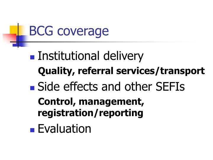 Bcg coverage