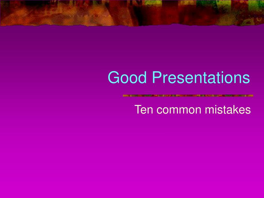 good presentations l.