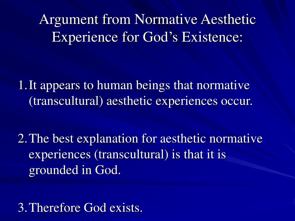 Argument from Normative Aesthetic Experience for God's Existence: