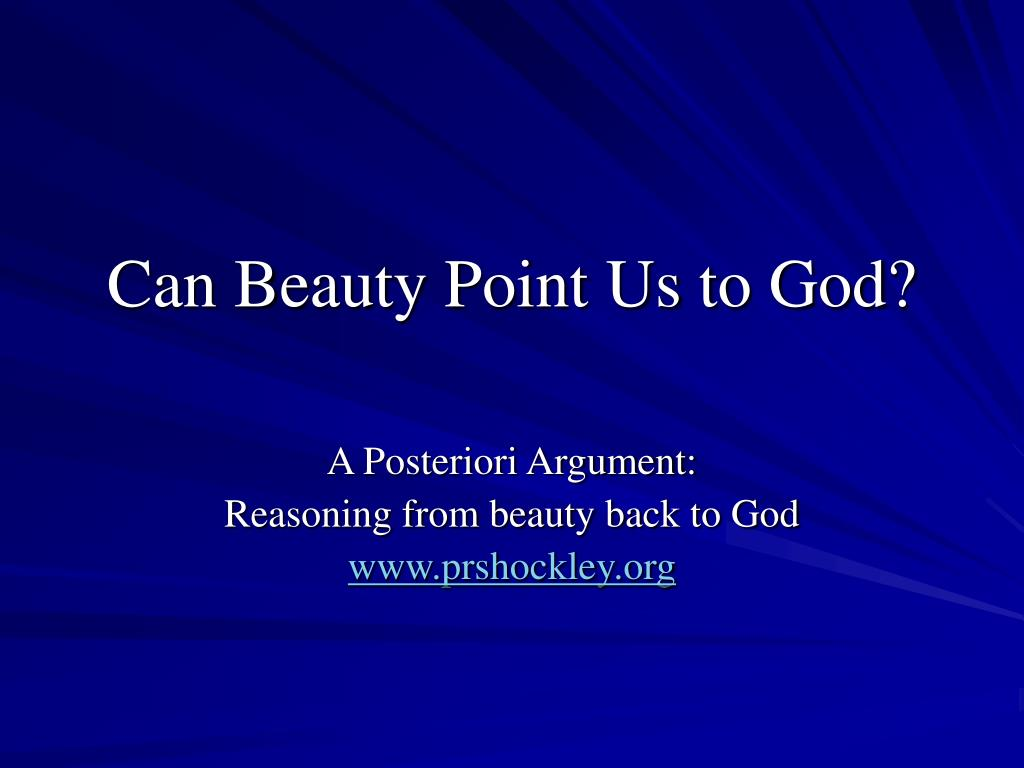 can beauty point us to god l.
