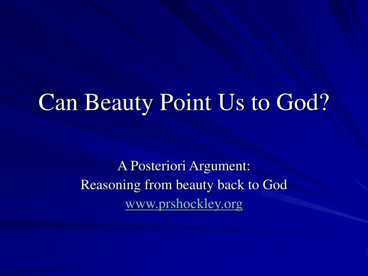 Can beauty point us to god