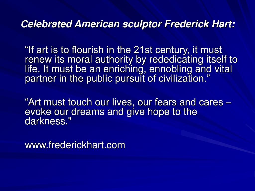 Celebrated American sculptor Frederick Hart:
