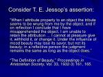 consider t e jessop s assertion