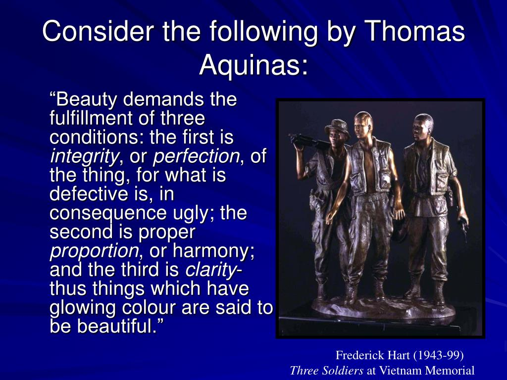 Consider the following by Thomas Aquinas: