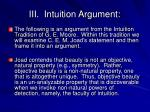 iii intuition argument