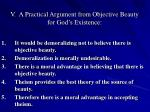 v a practical argument from objective beauty for god s existence