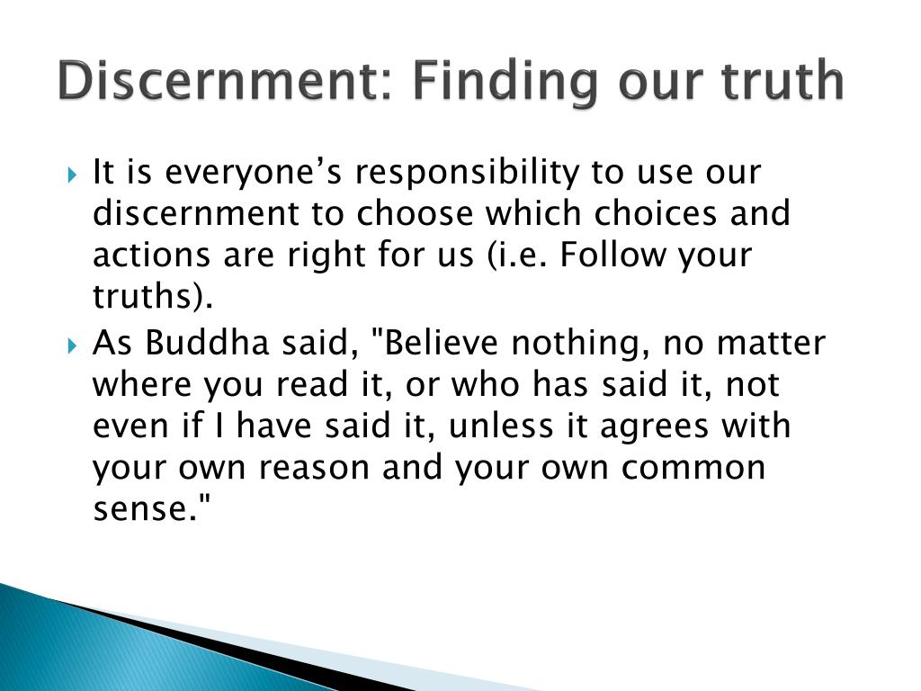 Discernment: Finding our truth