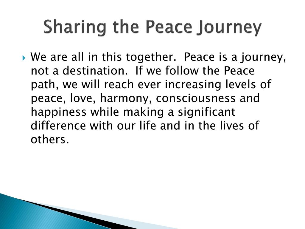 Sharing the Peace Journey