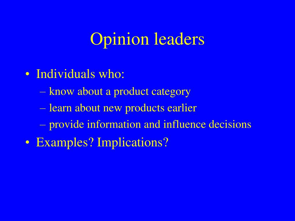 Opinion leaders