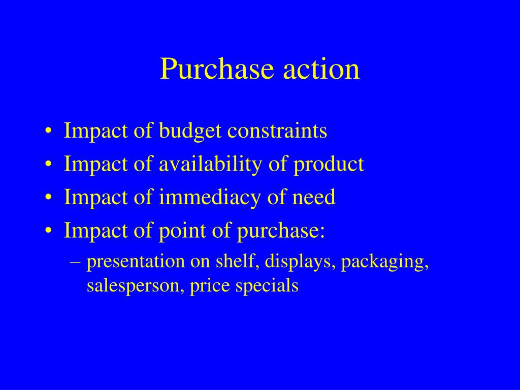 Purchase action