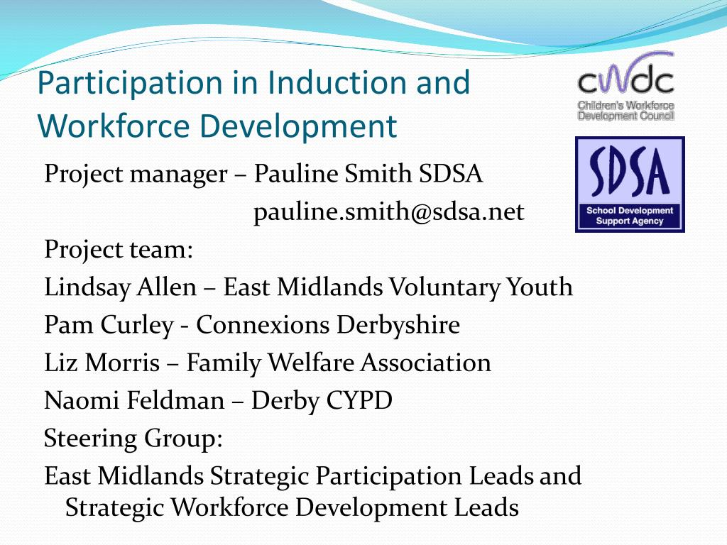 participation in induction and workforce development l.