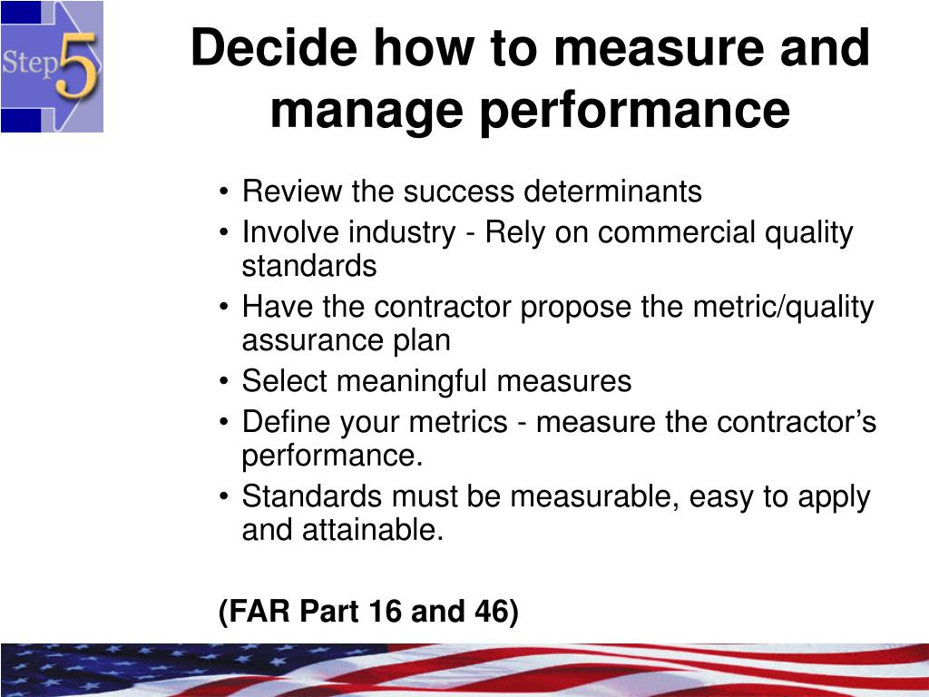 Decide how to measure and manage performance