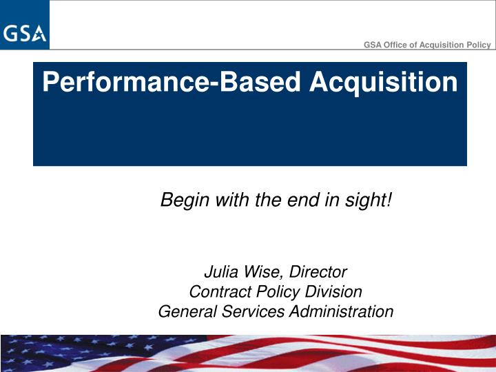 GSA Office of Acquisition Policy