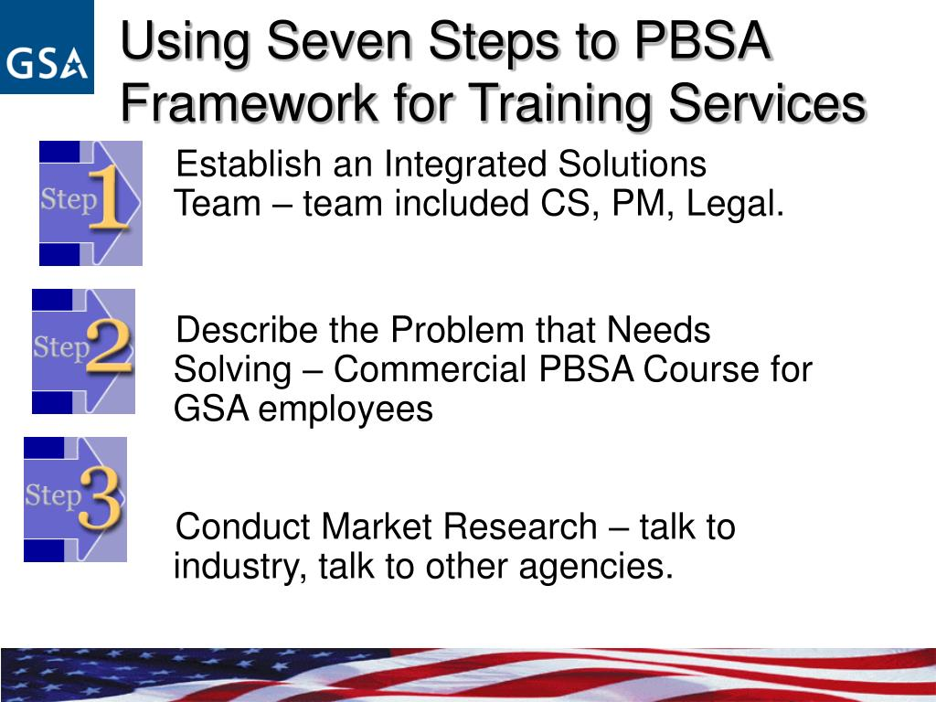 Using Seven Steps to PBSA Framework for Training Services