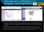 ariba buyer 8 2 vs ariba buyer 7 1a navigation home page swoosh