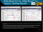 ariba buyer 8 2 vs ariba buyer7 1a search getting results