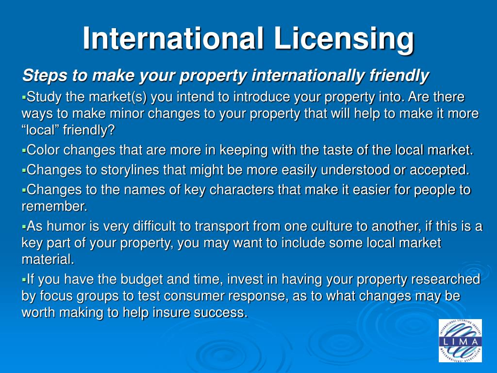 International Licensing