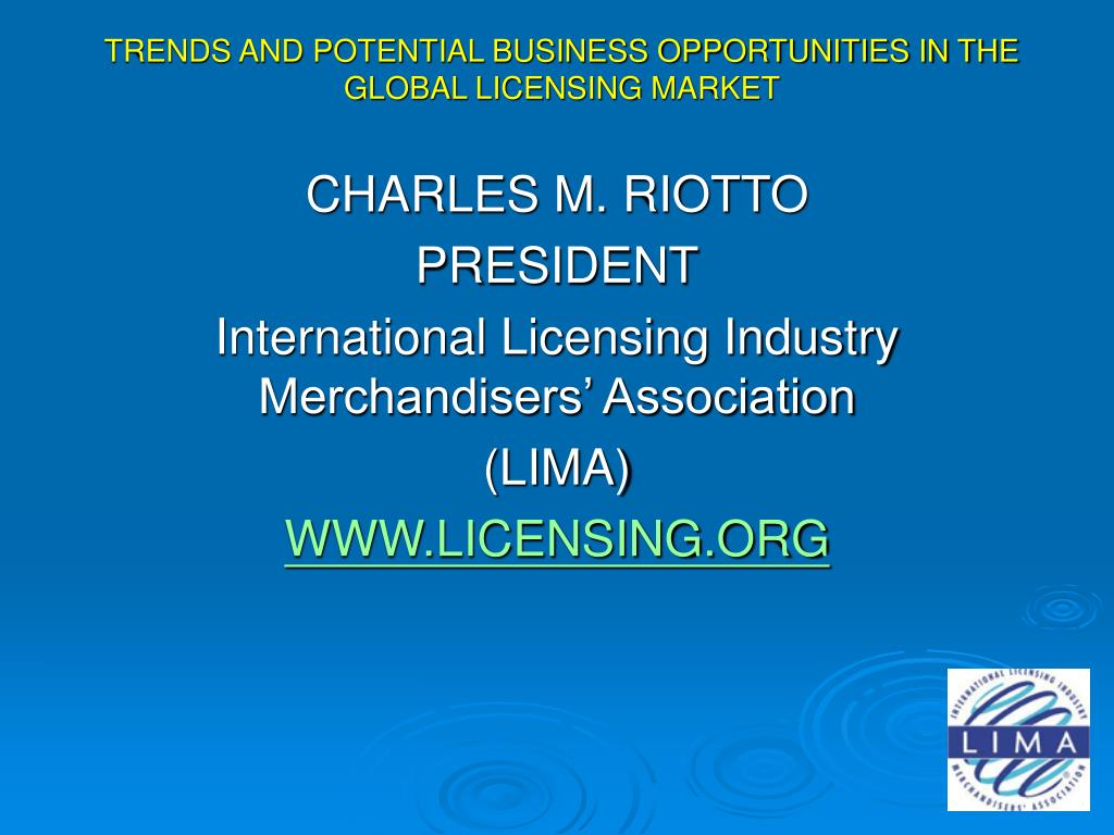 trends and potential business opportunities in the global licensing market l.