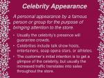 celebrity appearance