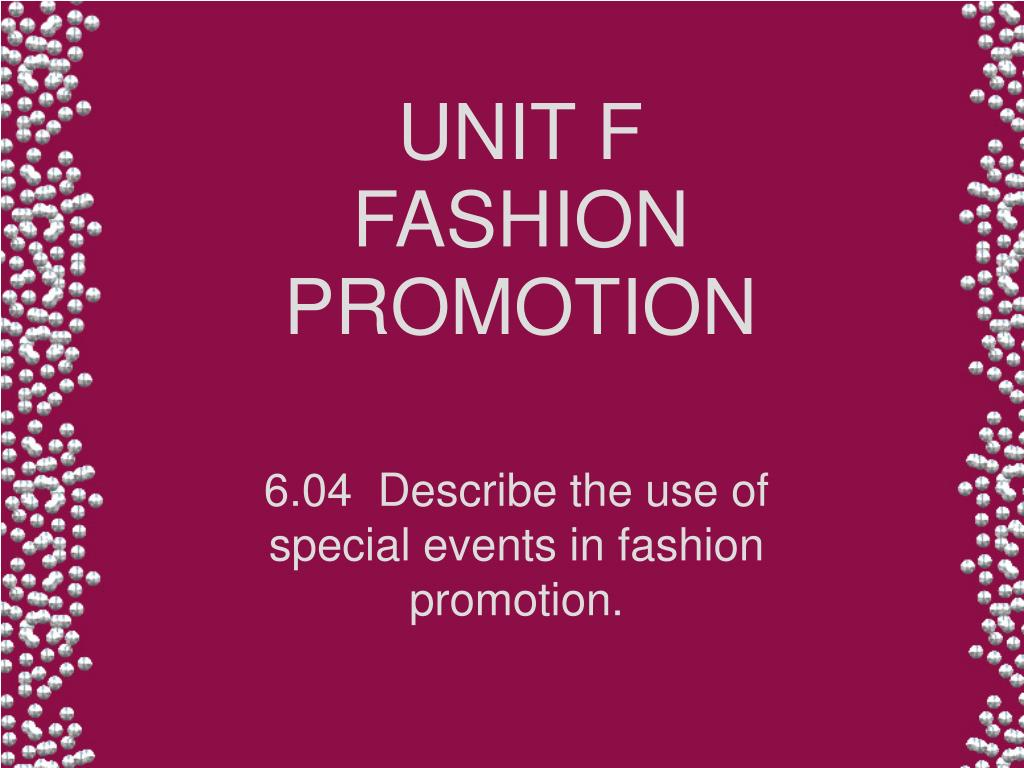 unit f fashion promotion l.