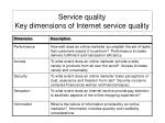 service quality key dimensions of internet service quality