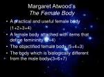 margaret atwood s the female body
