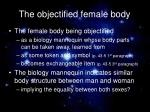 the objectified female body