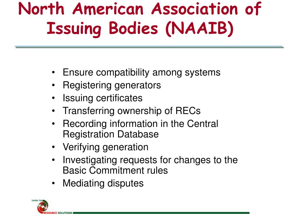 North American Association of Issuing Bodies (NAAIB)