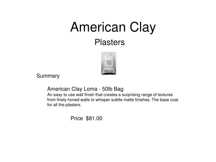American clay3