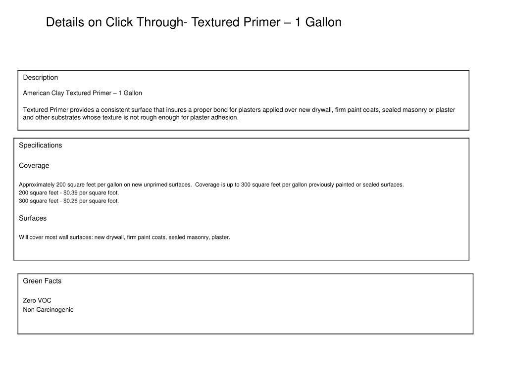 Details on Click Through- Textured Primer – 1 Gallon