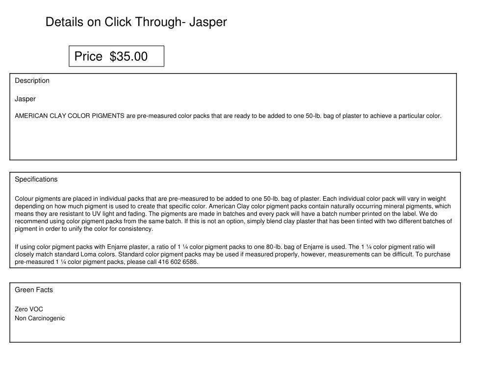 Details on Click Through- Jasper