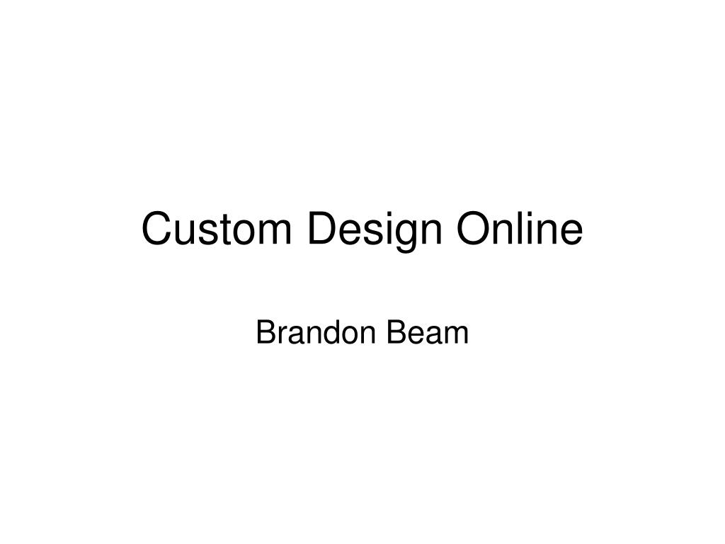 custom design online l.
