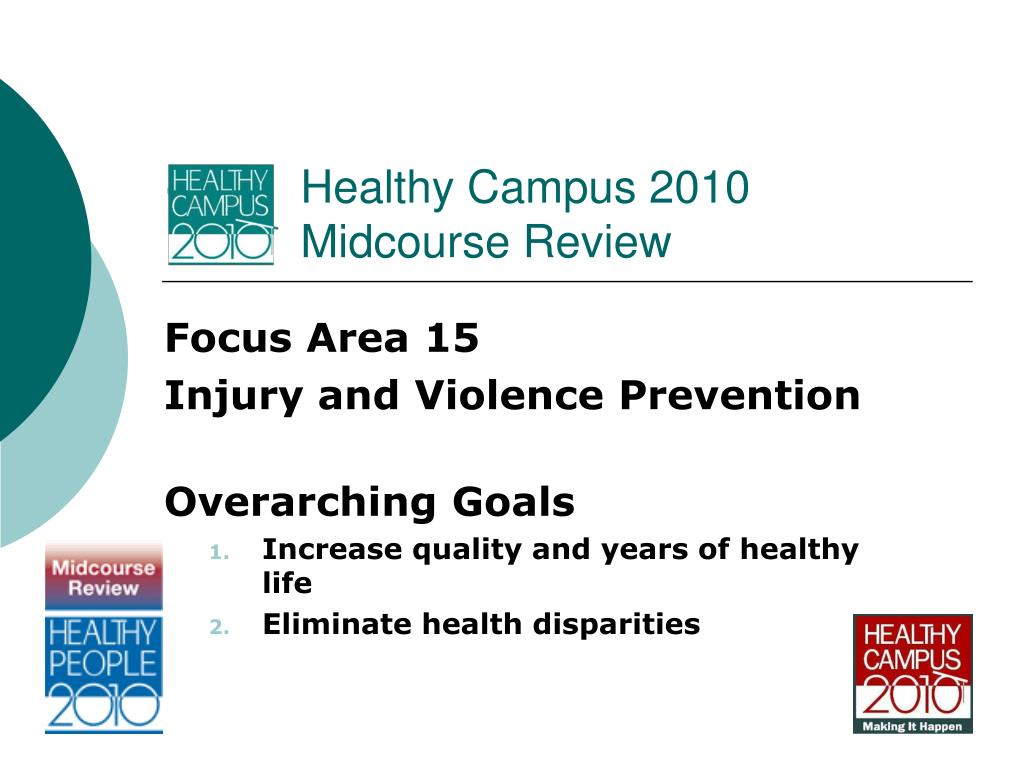 healthy campus 2010 midcourse review l.