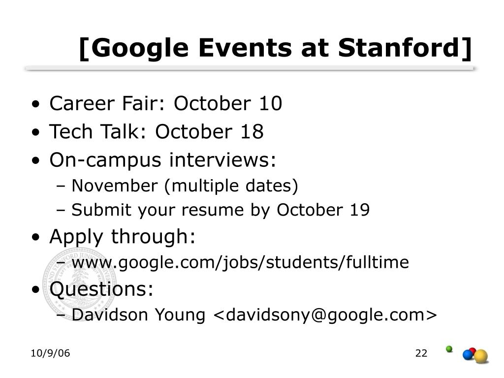 [Google Events at Stanford]