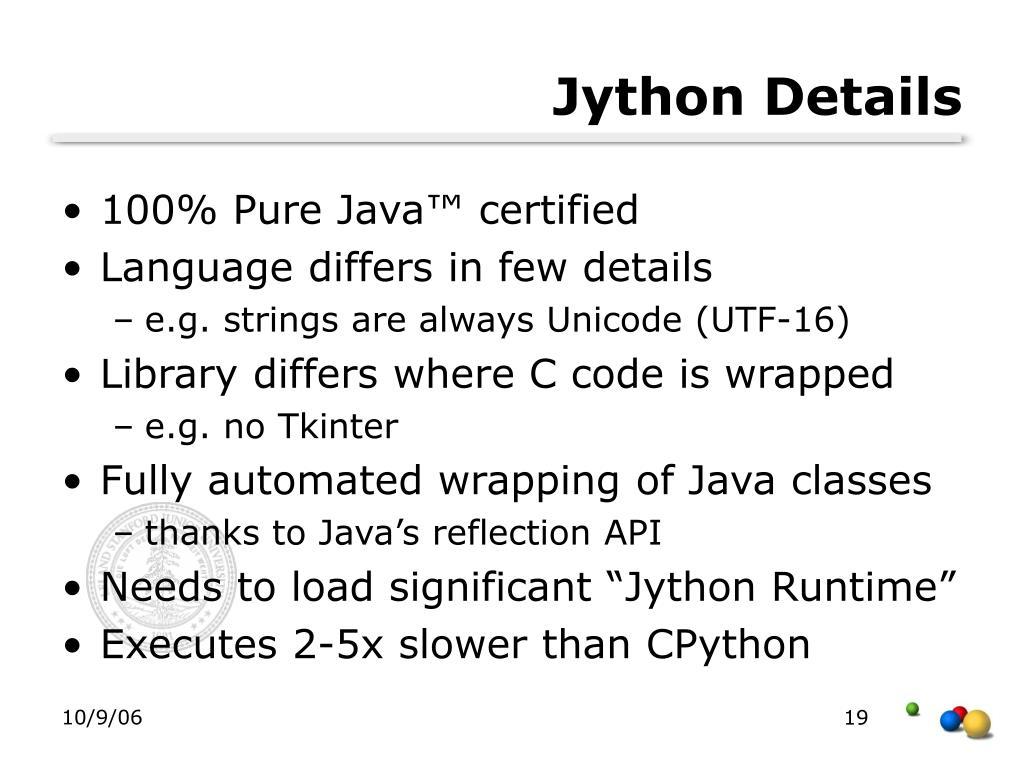 Jython Details