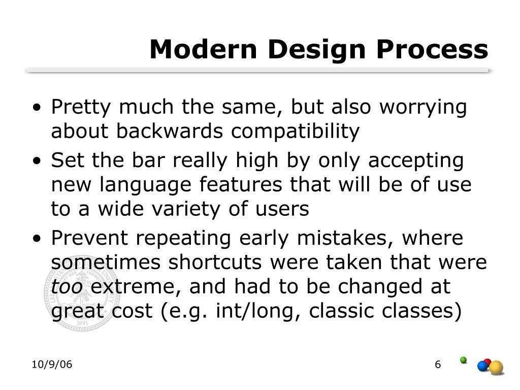 Modern Design Process