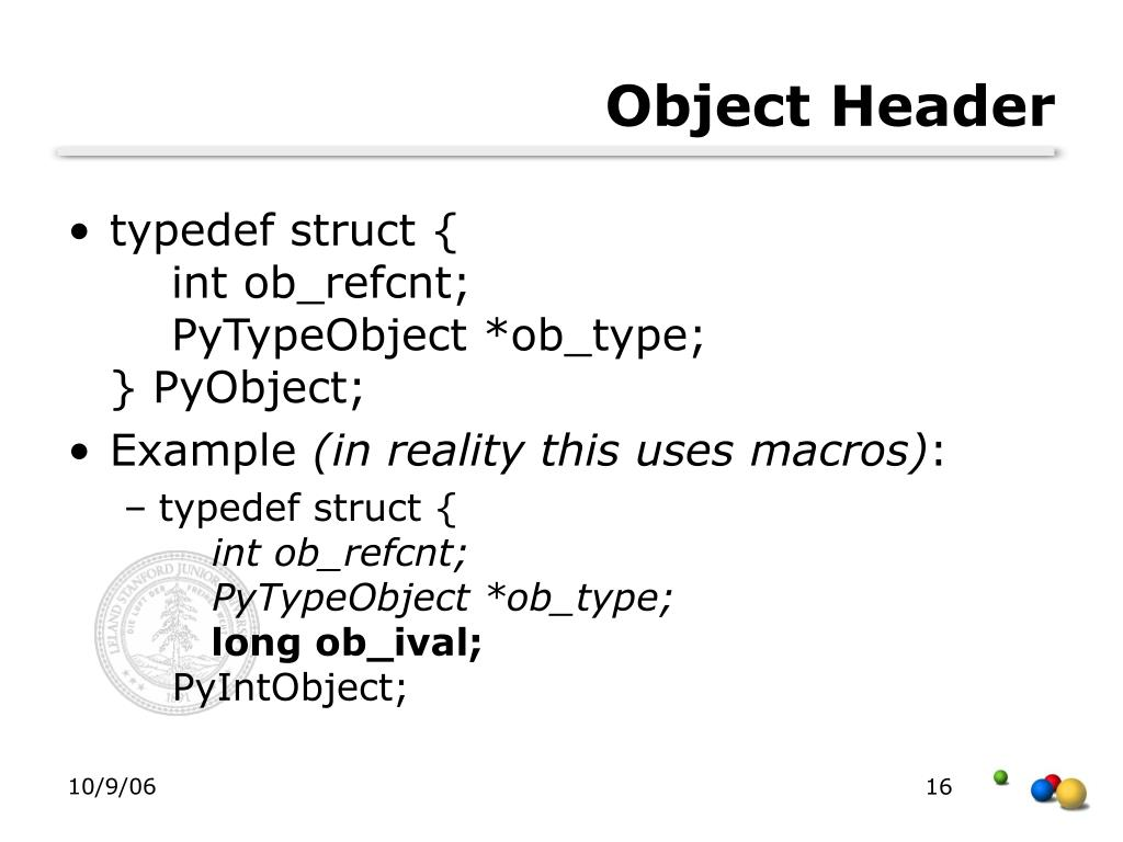 Object Header