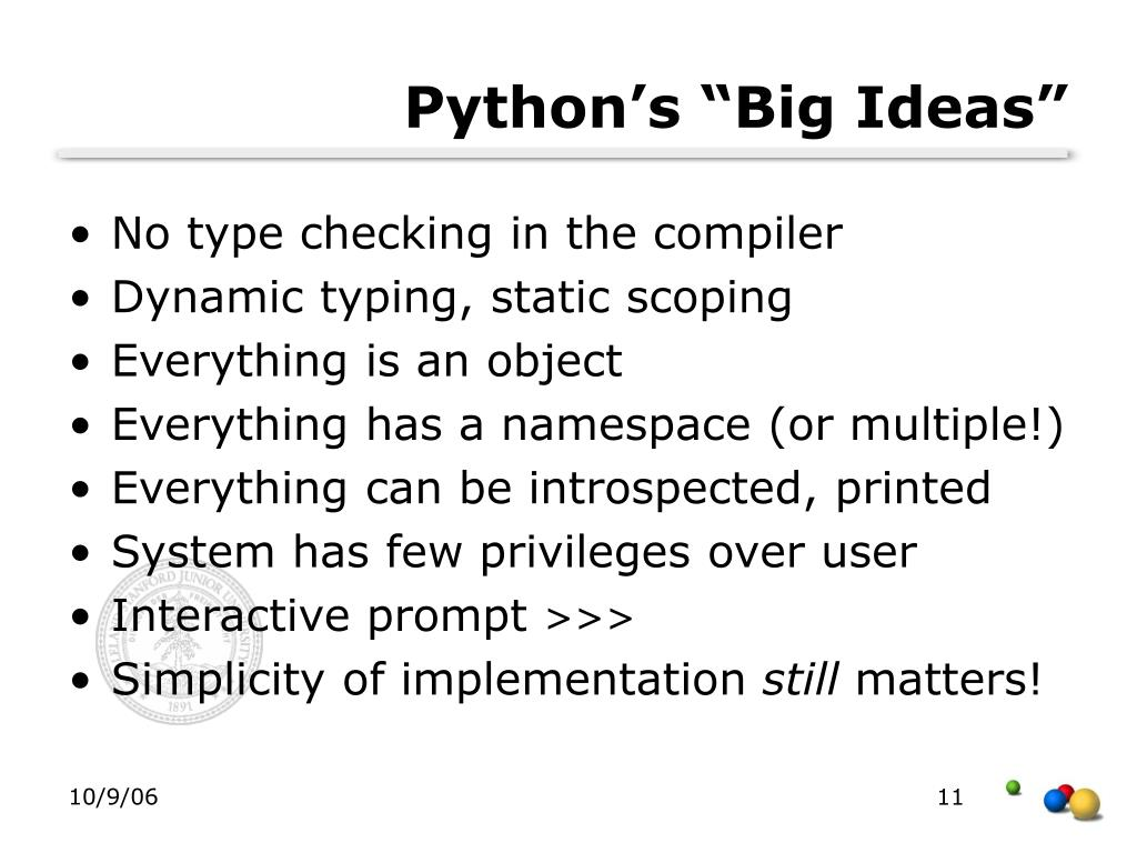 "Python's ""Big Ideas"""