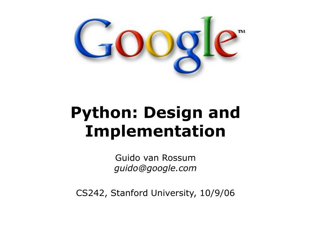 Python: Design and Implementation