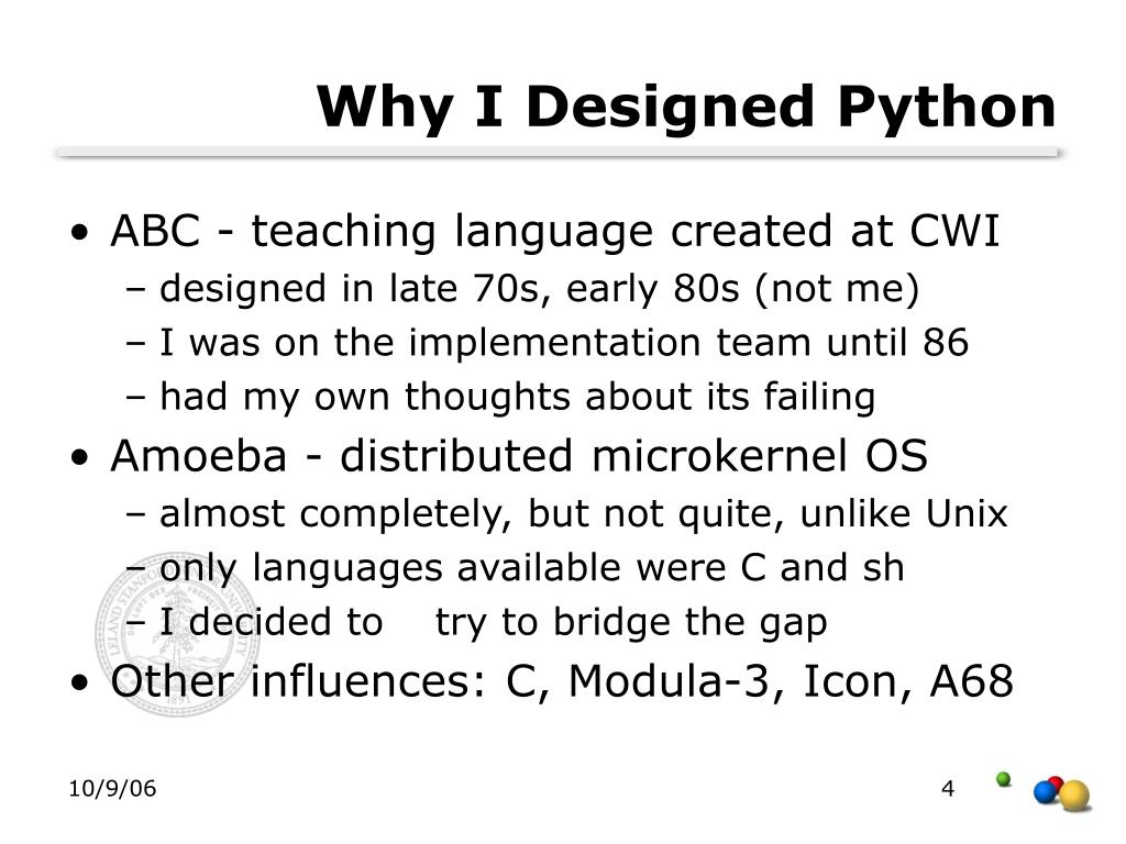 Why I Designed Python