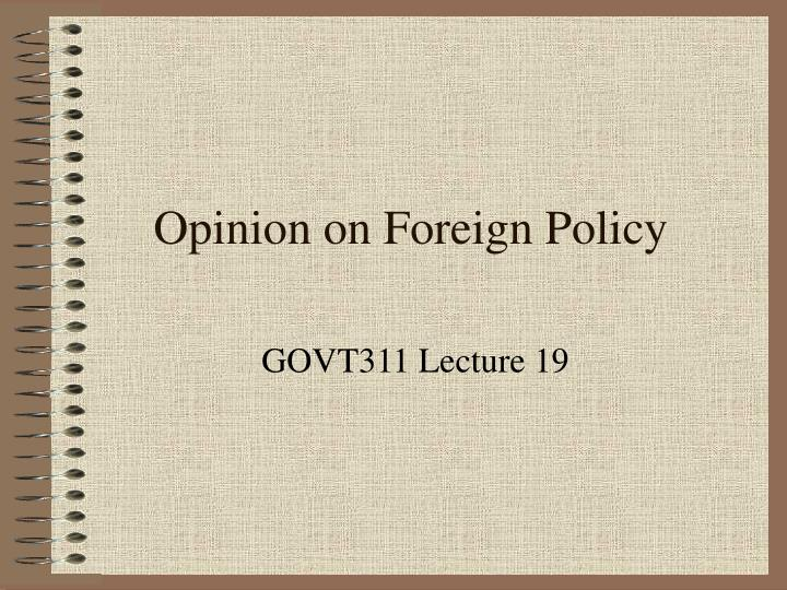 opinion on foreign policy n.