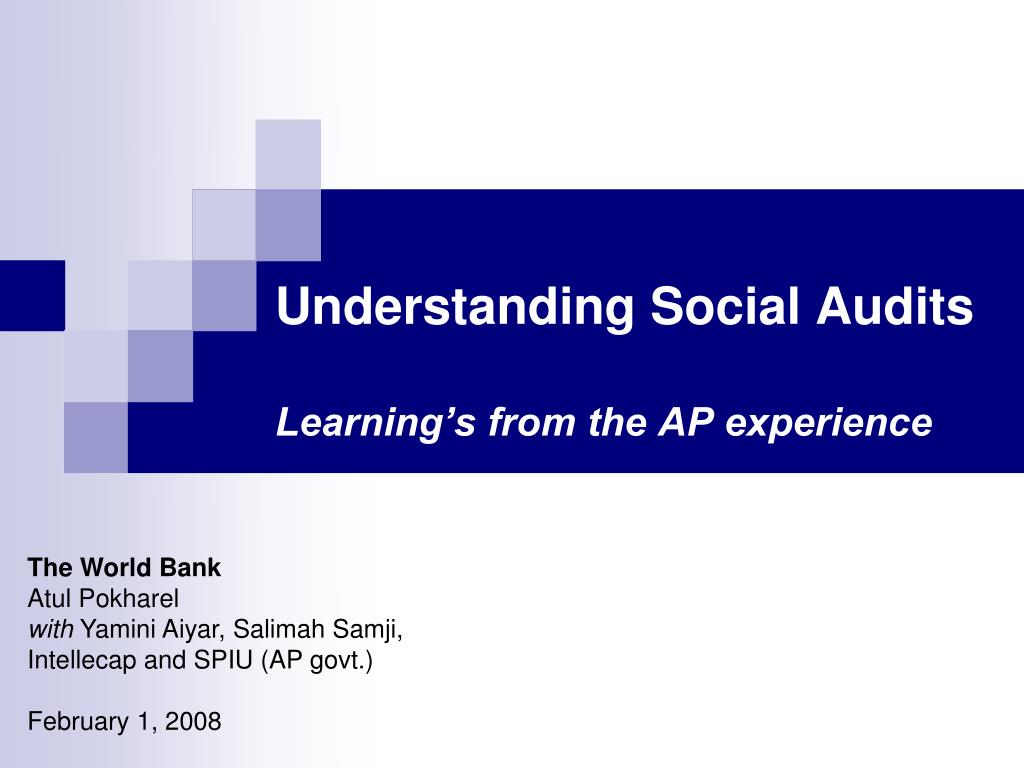 understanding social audits learning s from the ap experience l.