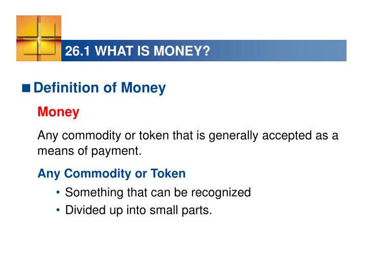26 1 what is money