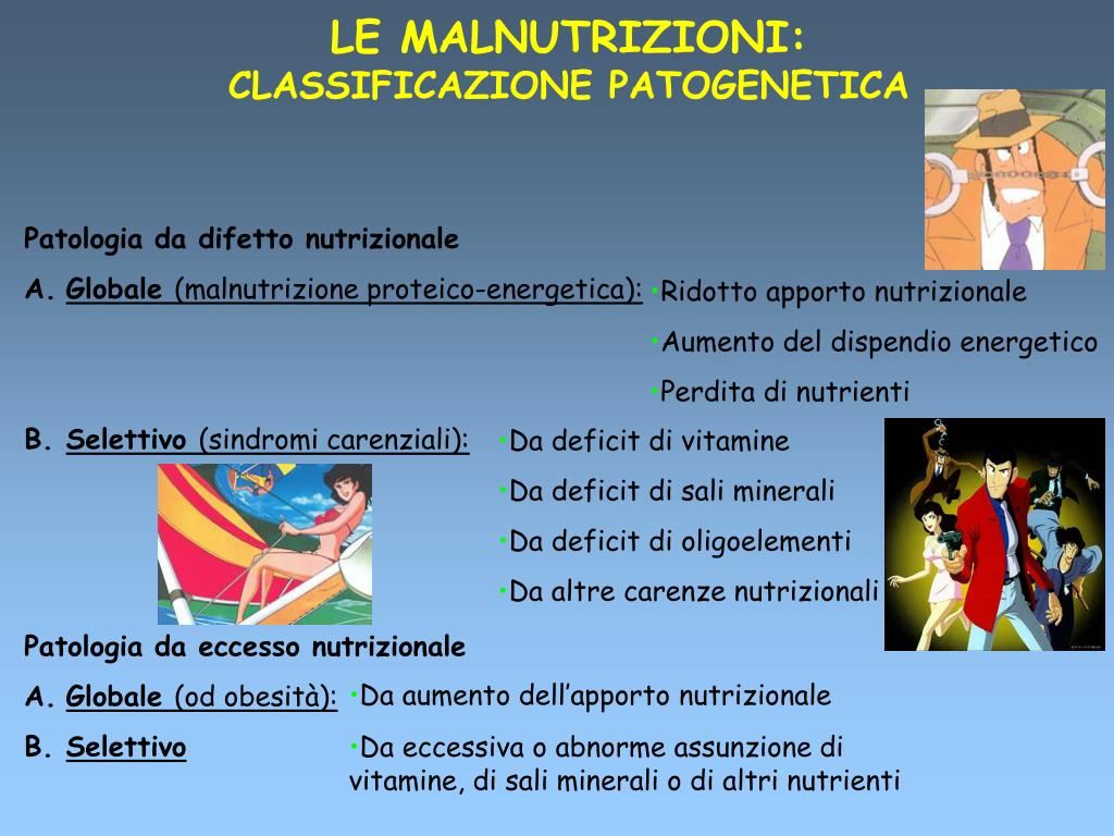 malnutrizione energetica proteica del piano dietetico
