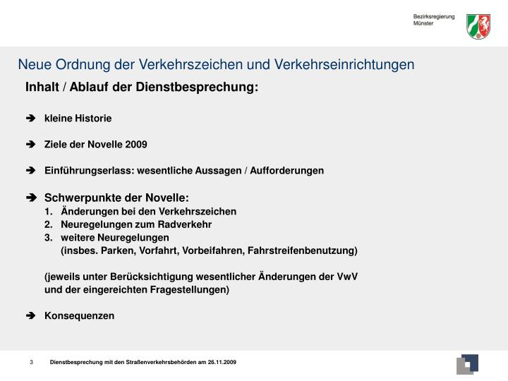 Neue ordnung der verkehrszeichen und verkehrseinrichtungen3