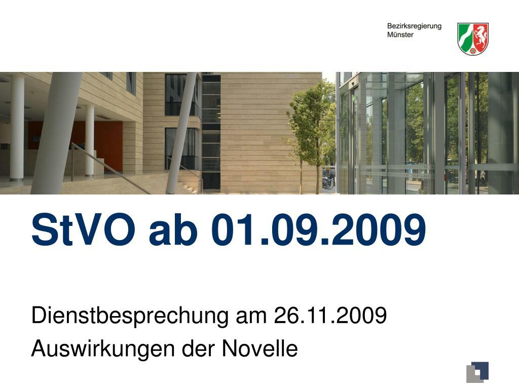 stvo ab 01 09 2009 l.