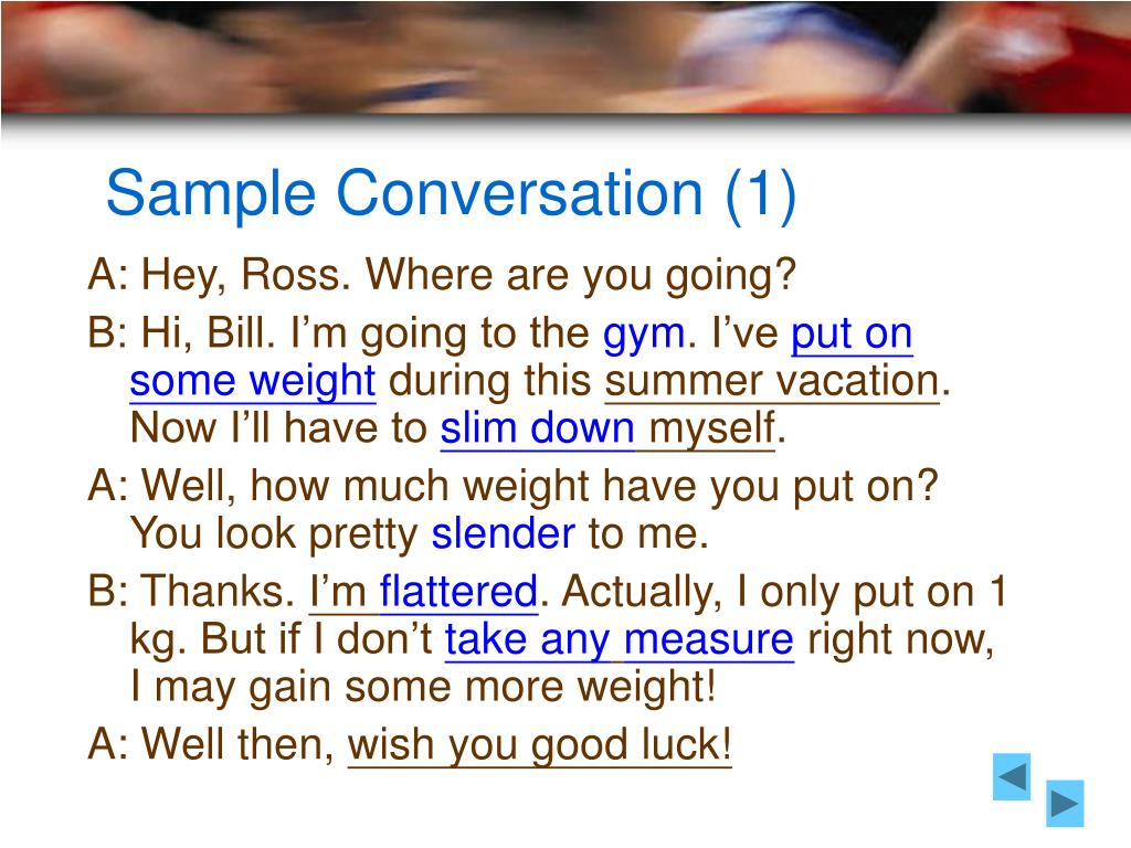 Sample Conversation (1)