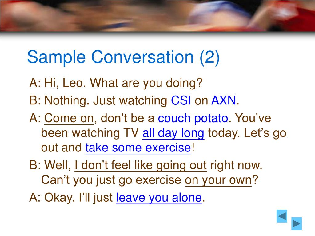Sample Conversation (2)