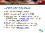 sample conversation 2
